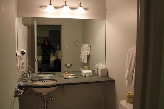 414 Hotel: Roomy, SPOTLESS bathroom