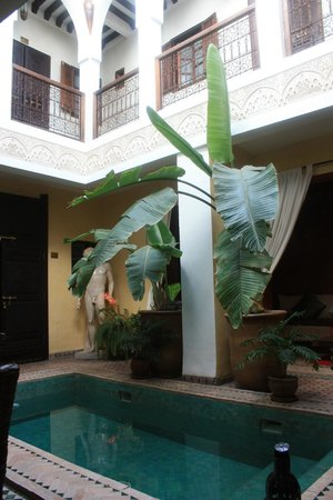 Riad Aguaviva: Patio central