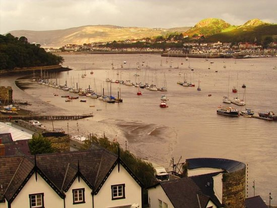 Glan Heulog Guest House: View from Conwy castle walls