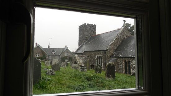 The Old Rectory Hotel: Cemetery and church from room