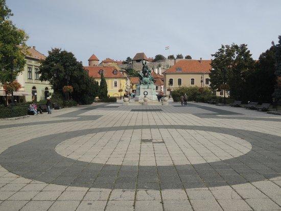 Eger Castle (Egri Var) : Eger Castle from Dobo Square
