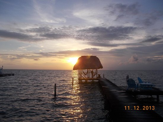 Sunrise at the pier of Colinda Cabanas