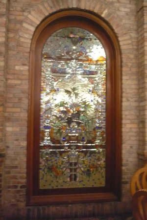 Garden Court Buffet : Lillian Gish Actress Stained Glass window