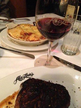 Abe & Louie's : Steak and Au Gratin Potatoes!