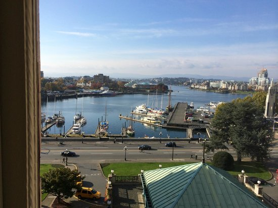 The Fairmont Empress: View from room window