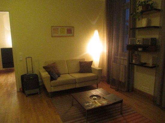 Mamaison Residence Belgicka Prague: Separate living area - Studio, 1 King