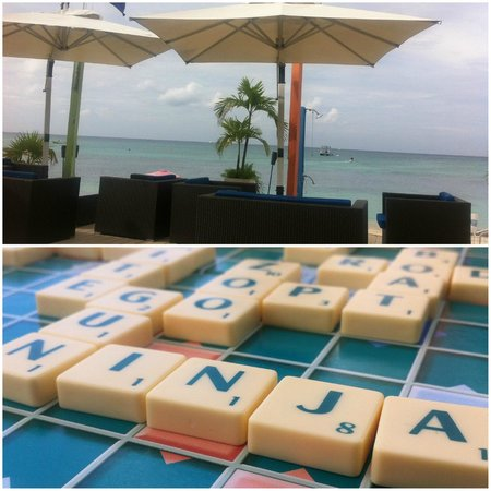 Surfside Beach Restaurant & Bar: beach word ninja!