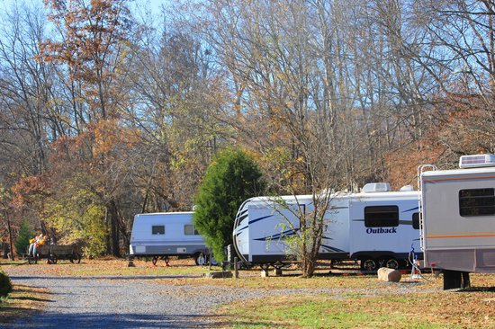 Up the Creek RV Camp : Sites on Walden Creek