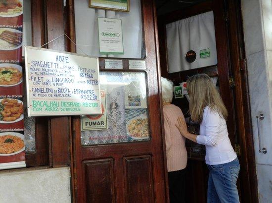 La Trattoria: Almoço na Trattoria é mais tranquilo.