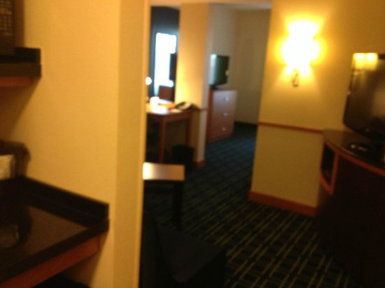 Fairfield Inn & Suites Montgomery-EastChase Parkway: Room from hall in front of bathroom