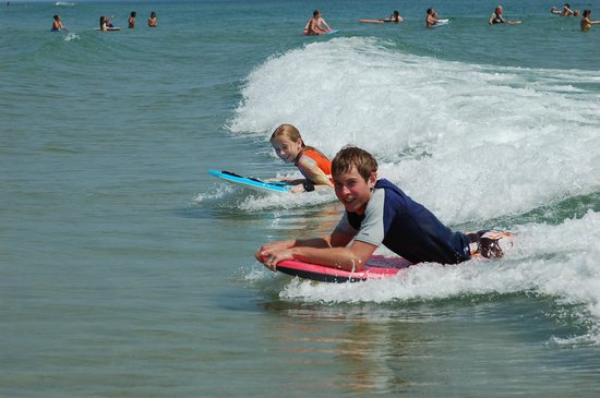 Nauset Beach: Boogie Board dream duet.