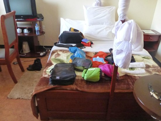 Stella Maris Lodge : What the night before Kili looks like in your room
