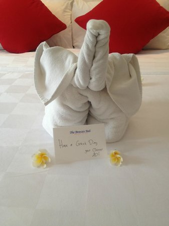 The Breezes Bali Resort & Spa: Was left for us by our lovely cleaner