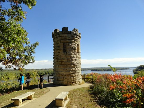 Mines of Spain Recreation Area: Dubuque grave overlooking downtown Dubuque and Mississippi River
