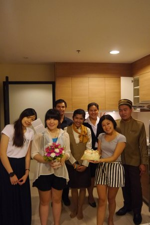 Viva Garden Serviced Residence: birthday celebrating