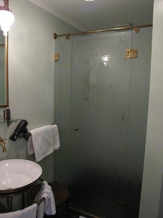 Bathroom in our room at Gerloczy Rooms de Lux