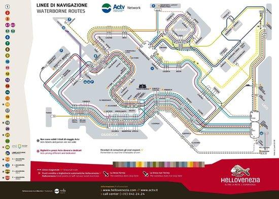 Hotel Palazzo Abadessa: Water Bus Map
