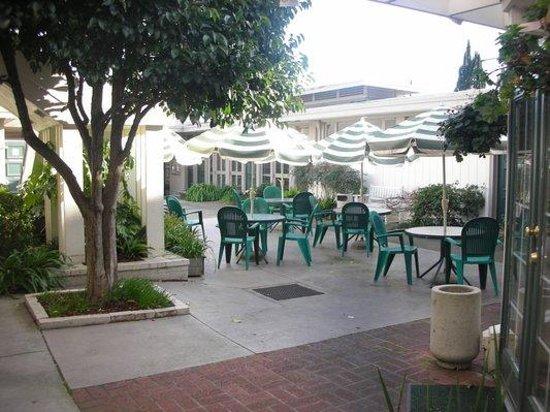 Casa Manana: outdoor seating area