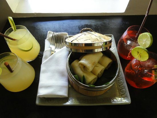 Sojourn Boutique Villas: Welcome refreshments