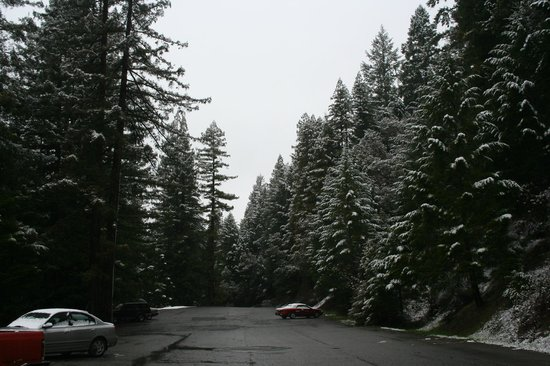 Brooktrails Lodge: Front Parking lot in winter