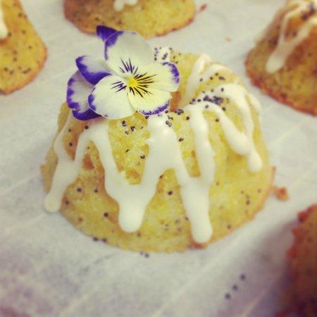 The Secret Garden Cafe: Gluten free lemon and poppy seed bunt cake