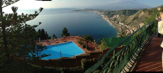 Hotel Villa Diodoro : Vista dal balcone del ristorante