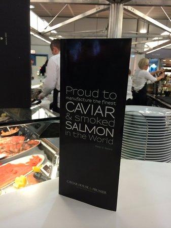 Prunier Seafood & Caviar House : Menu'