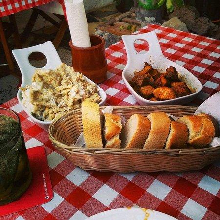 Pincha Cabra Tapas Bar: Russian salad & Marinated Pork