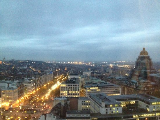 The Hotel - Brussels: The hotel early in the morning 22nd floor