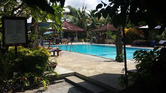 Kuta Puri Bungalows : Pool with kiddie section. Nice and deep.