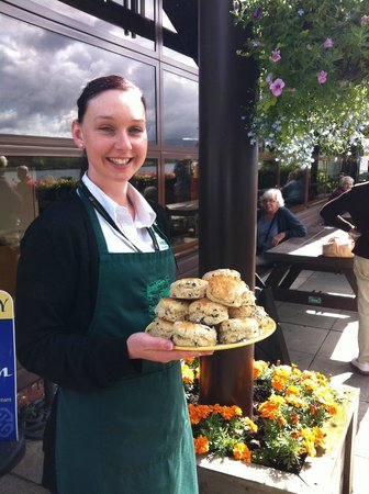 Cruachan Power Station Visitor Center: Enjoy a snack outside on the Patio overlooking Loch Awe