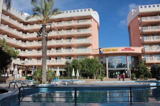 Hotel-Aparthotel Dorada Palace : Красивый большой отель с бассейном и детской площадкой