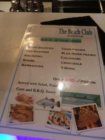 Buri Rasa Koh Phangan : BBQ