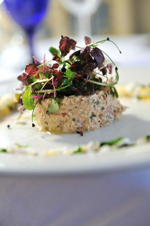 The Walnut Tree Hotel: Timbale of Seafood