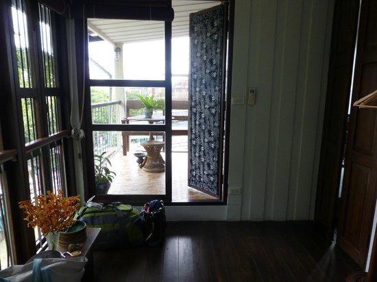 The Asadang: Room 9 - Door to balcony and shower room