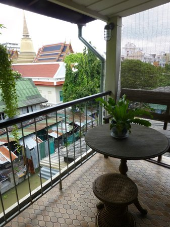 The Asadang: View of the canal and temple from the balcony in Room 9