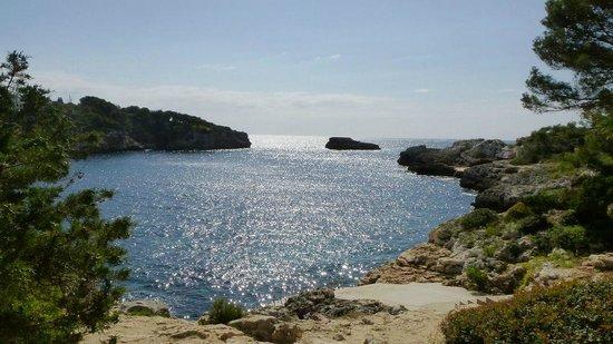 Inturotel Esmeralda Park: Felsenbucht Cala Azul (über Leiter ins kristallklare Wasser)
