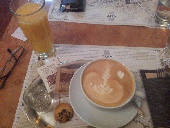 Hunger Wall Residence: coffee & OJ