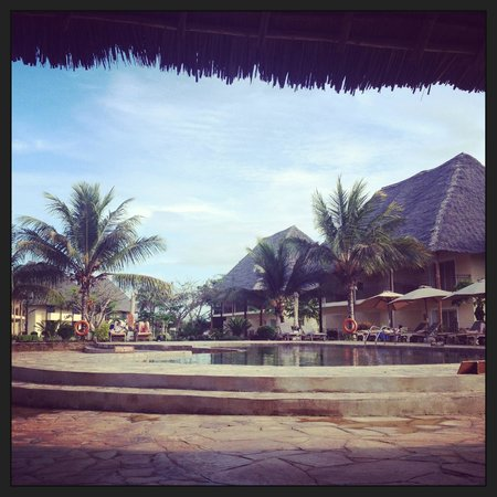 Dream of Zanzibar: View from the garden pool bar (between the beach and reception)