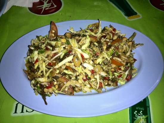 Sip Song Banna: Spicy tea leaf salad.  Delicious! Only 40 baht!