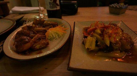 Putumayo: エビのお料理と鴨のお料理