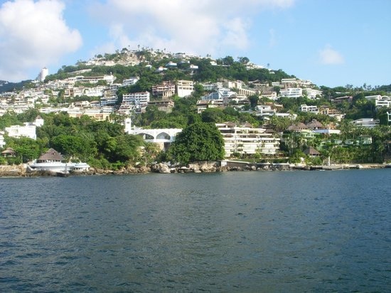 Yate de Recreo Aca Rey : View of the Acapulco Bay from the boat