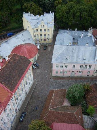 Rixwell Old Town Hotel : 教会の塔の上からホテルを望む