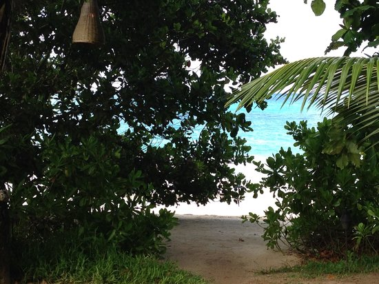 MAIA Luxury Resort & Spa : secluded garden with a view of beach