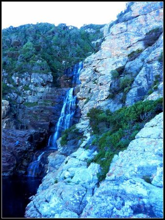 """The waterfall at the """"start"""" of the Otter Trail Walk (about 4hrs rtn)"""