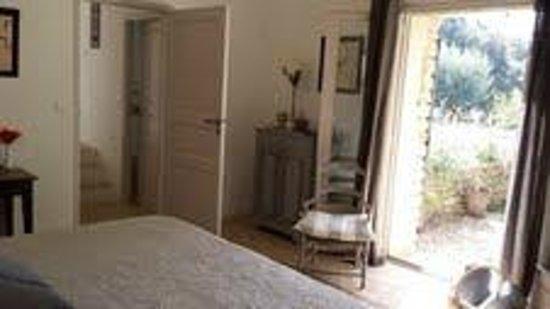 Les Terrasses: Vue de la chambre
