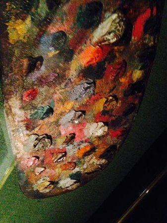 Musée National Eugène Delacroix: Палитра Делакруа.