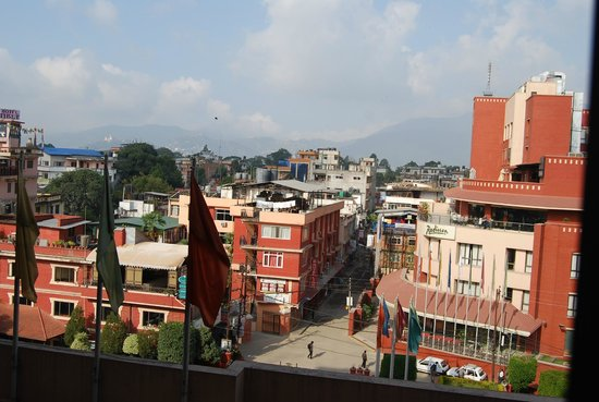 Radisson Hotel Kathmandu : View from room - main building, 4th floor, front