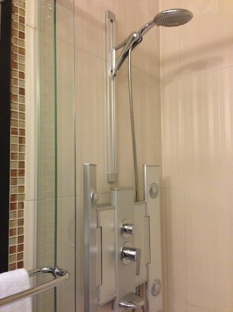 Le Petit Hotel: Spacious shower in Room 204