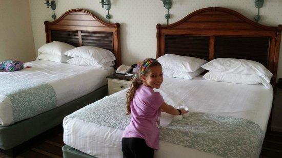 Disney's Beach Club Resort: Two queen beds